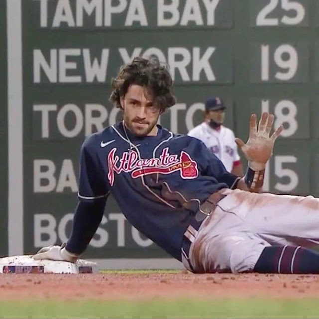 Dansby Swanson Long Layered Curls