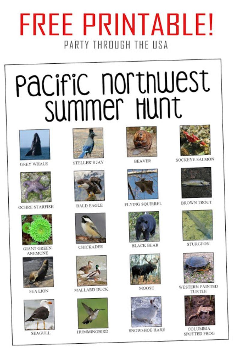 pacific northwest scavenger hunt for kids