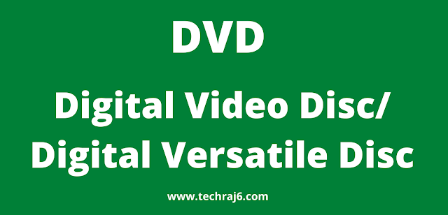 DVD full form, what is the full form of DVD