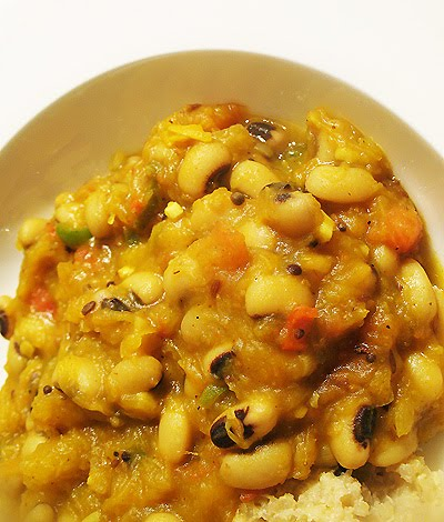 black-eyed pea and squash curry