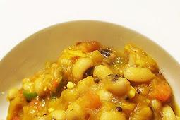 Indian-Style Black-Eyed Peas with Roasted Squash