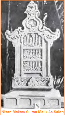 Gambar Peninggalan Kerajaan Samudra Pasai - Nisan Makam Sultan Malik As Saleh