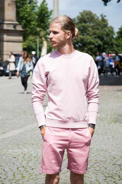 Look masculino inverno tons rosa