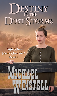 Destiny in the Dust Storms, Michael Winstell, Geena Bocci, book cover, girl, farm, Jenny V Photography
