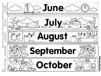 Fichas de Inglés para niños: Months of the year flascards