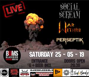 Social Scream, War Within, Perseptik: Σάββατο 25 Μαΐου @ BUMS
