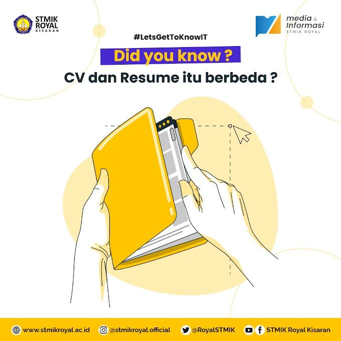 Curriculum Vitae VS Resume ?