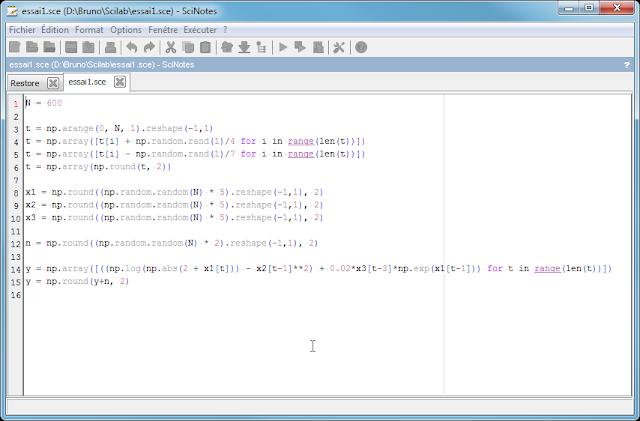Scilan - Fichier ouvert avec SciNotes