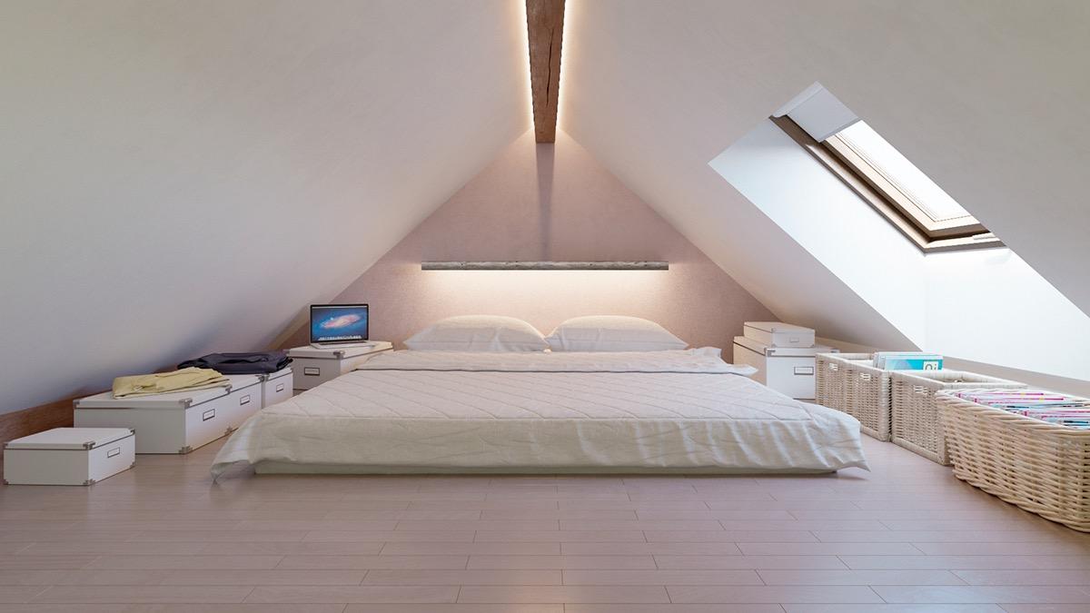 25 Desain Kamar Tidur Loteng Yang Cantik Dan Menawan