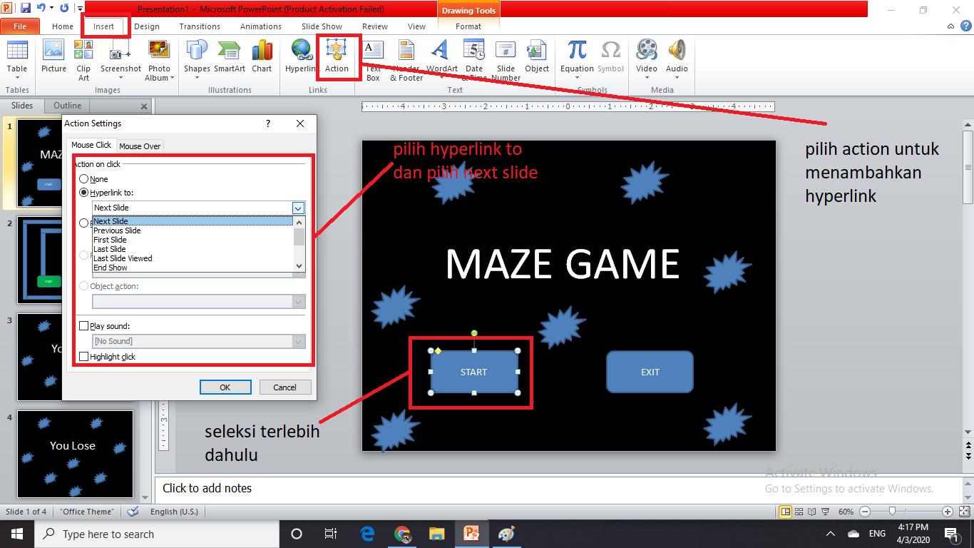 cara membuat game maze 5 - sahretech
