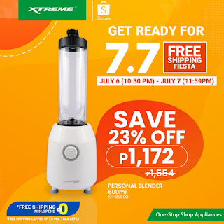 XTREMEappliances, 7.7 Shopee Free Shipping Fiesta, Personal Blender