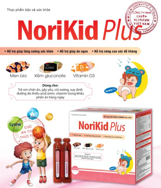 cong dung cua Nori Kid Plus