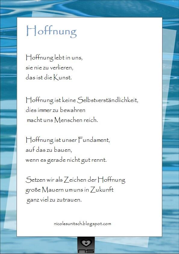 Gedicht hoffnung zukunft