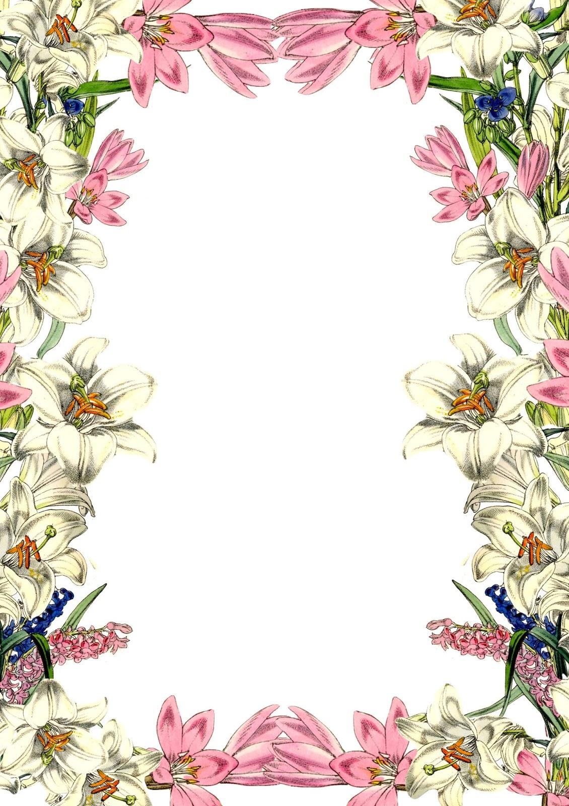 Free Digital Vintage Flower Scrapbooking Paper