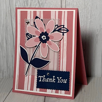 Floral Thank You Card using Stampin' Up! Paper Blooms Designer Series Paper