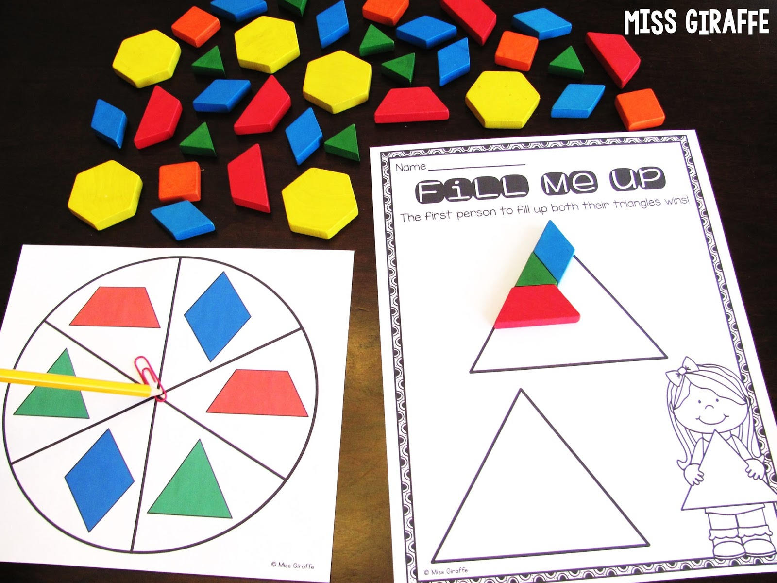 Miss Giraffe's Class: Composing Shapes in 1st Grade [ 1200 x 1600 Pixel ]