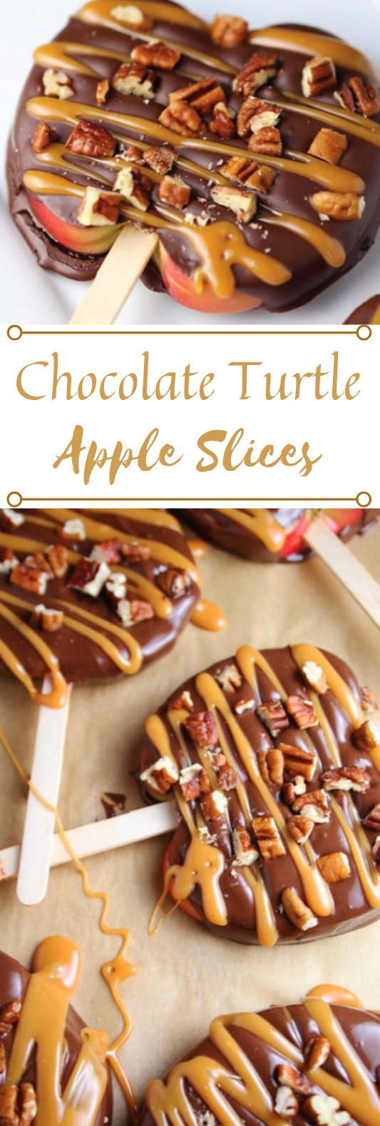 CHOCOLATE TURTLE APPLE SLICES #desserts #cakes #chocolate #pie #sugar