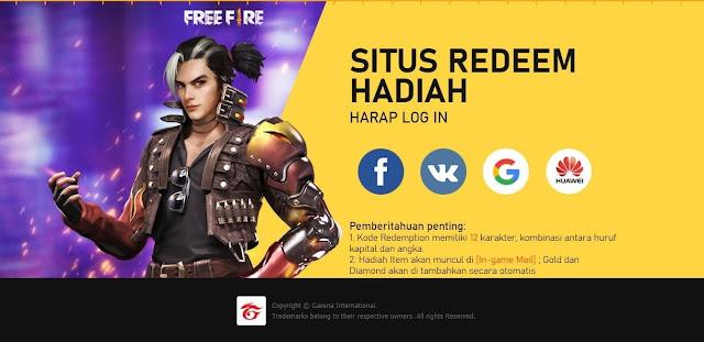 Situs Redeem Hadiah Free Fire