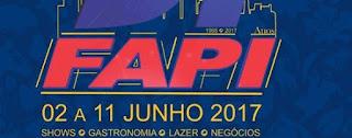 Agenda de Shows FAPI Ourinhos 2017