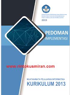 Pedoman implementasi muatan informatika dalam Kurikulum 2013,