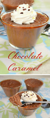 Creamy, silky smooth baked Chocolate Caramel - this IS chocolate heaven !