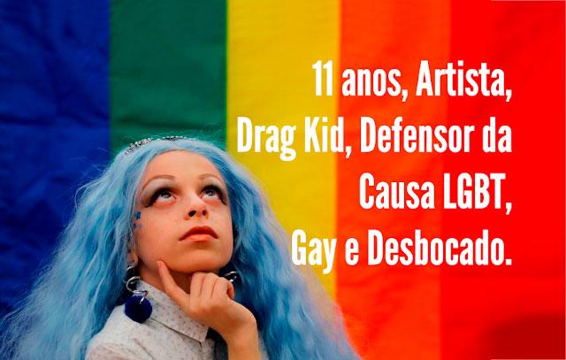 """""""Drag Kid"""" Com 11 anos ela é um ícone LGBTQI+"""