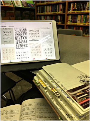 April 23, 2019 Spending a few hour warm and dry at the library.