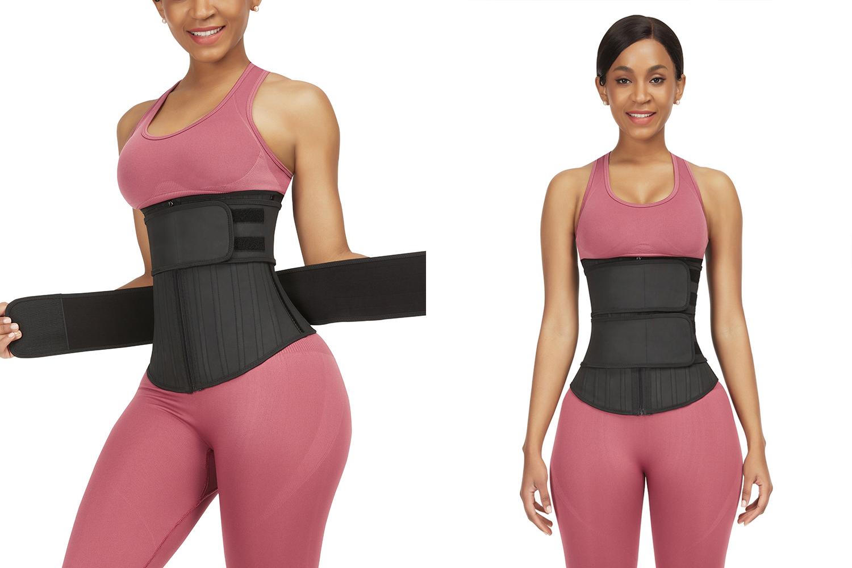woman in waist trainer