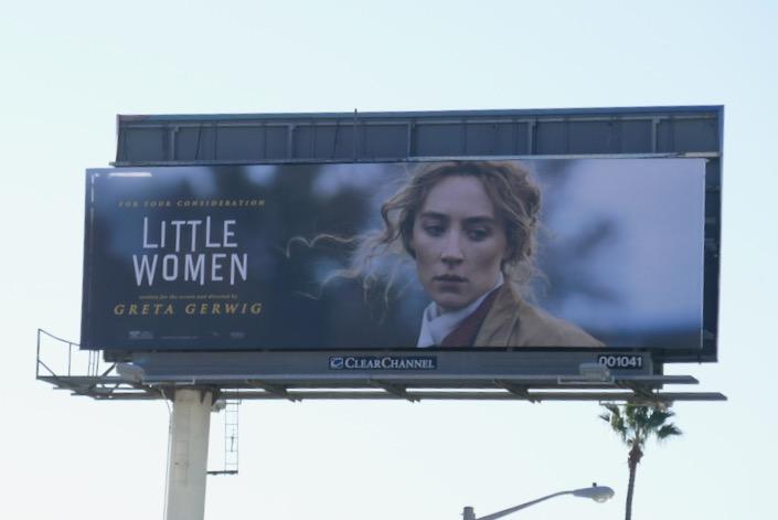 Little Women movie FYC billboard