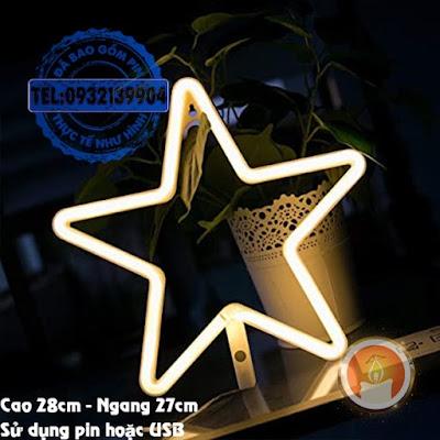 Đèn led neon ngôi sao