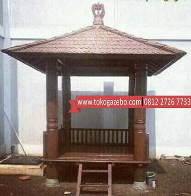Gazebo Kayu Glugu Atap Sirap