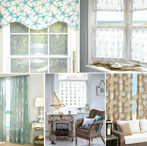 Coastal Home Design Window Treatments