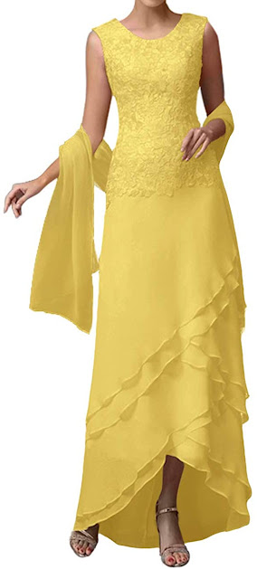 Gold Mother of The Groom Dresses,