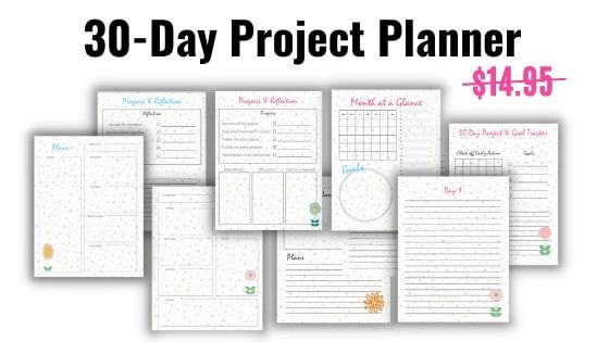 30-day project planner