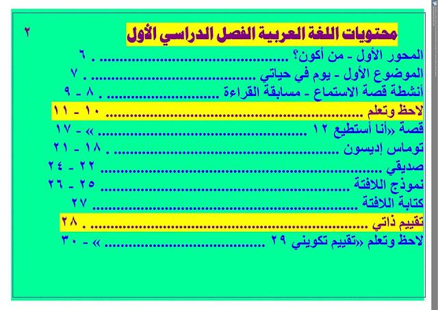دفتر تحضير نافذة اللغة العربية للصف الثاني الإبتدائي أ/ رمضان فتحي 6