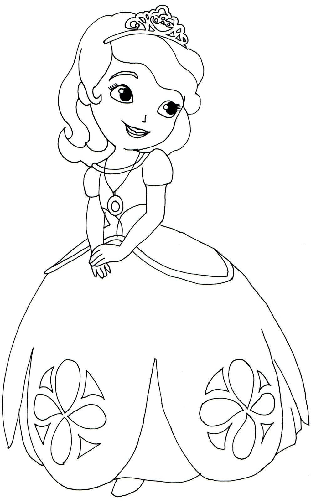 Sofia the first coloring pages to print for Sofia the princess coloring pages