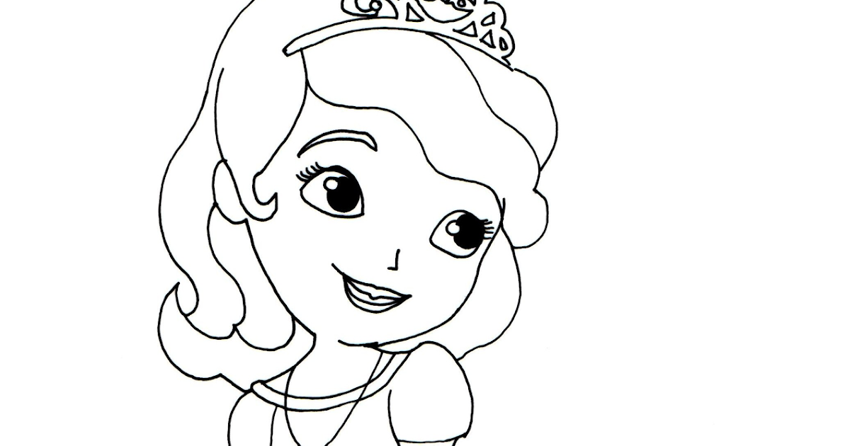 Sofia The First Coloring Pages: Sofia the First Coloring Page