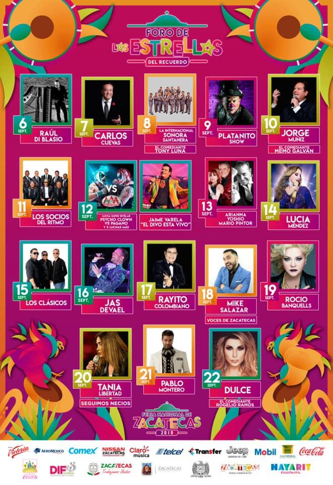 Feria de Zacatecas 2019 artistas y boletos