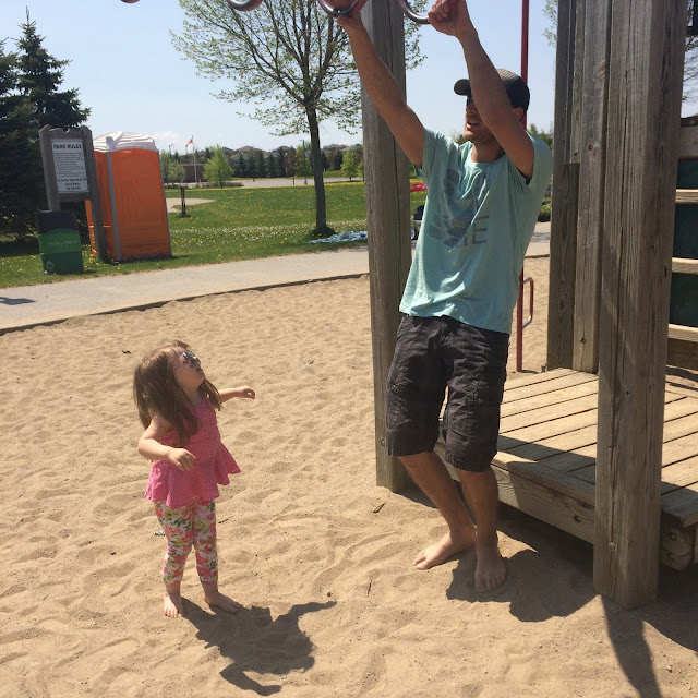 daddy and Annabelle at park