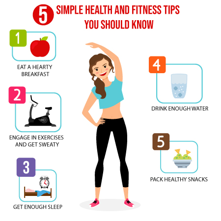 5 Simple Health and Fitness Tips You Should know.