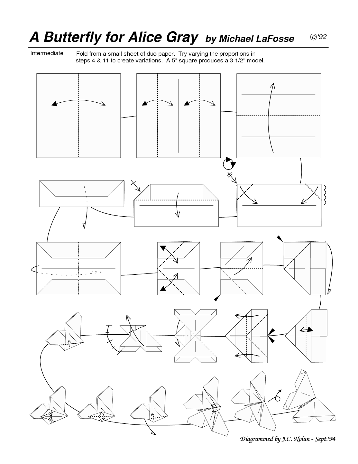 Creative Art / Seni Kreatif: How to.../CARA Origami / DIAGRAM - photo#45