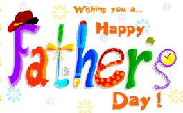 Happy Father's Day with glitter animation.