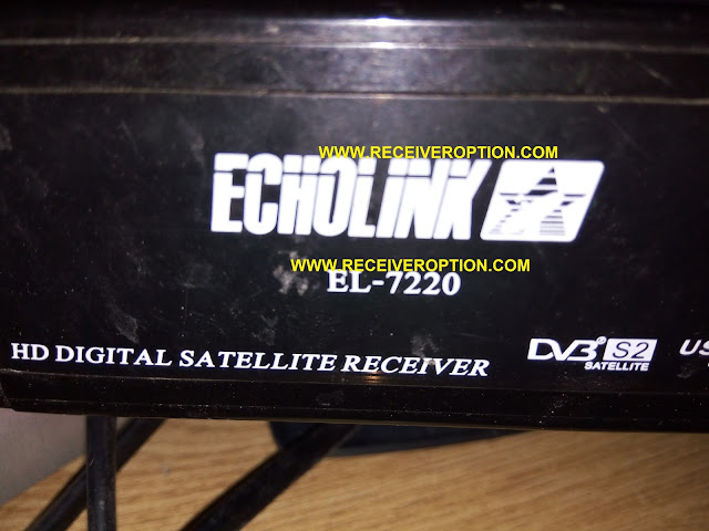 ECHOLINK EL-7220 HD RECEIVER BISS KEY OPTION