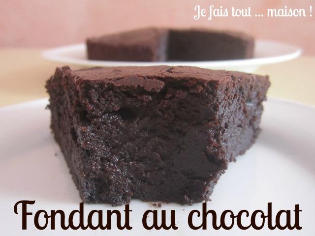 La recette du gâteau au chocolat noir et au lait concentré non sucré