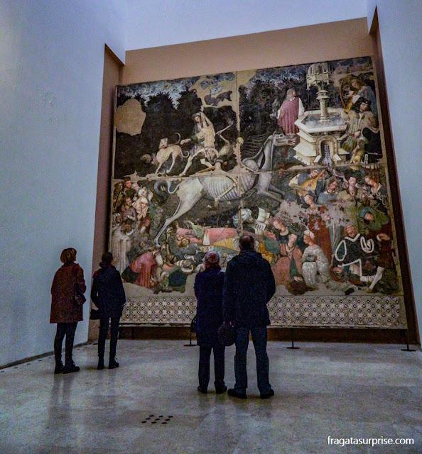 """""""O Triunfo da Morte"""", afresco na Galeria Nacional da Sicília - Palácio Abatellis de Palermo"""