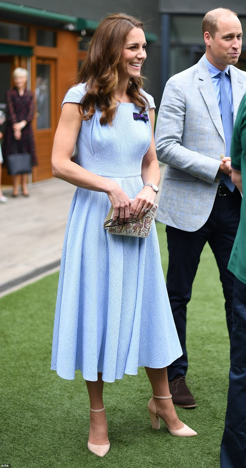 The Duchess of Cambridge shines in an Emilia Wickstead dress at the 2019 Wimbledon Men's Final