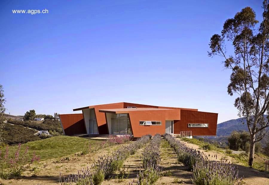 Casa orgánica contemporánea en Cañón Topanga, California