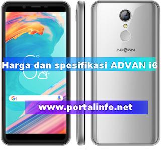 Harga dan spesifikasi Advan i6 juli 2018