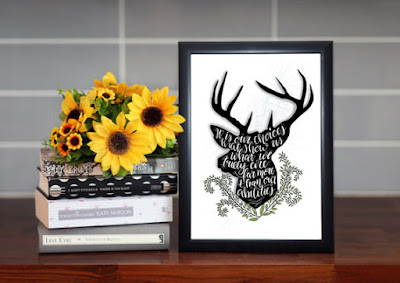 Harry Potter quote print on Etsy