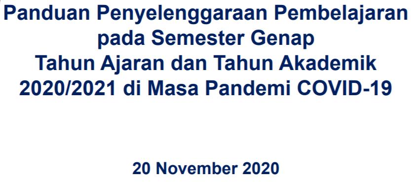 gambar Panduan Pembelajaran Semester Genap Tahun 2020/2021